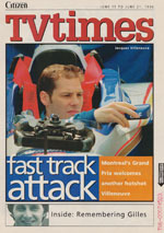 Newspaper TV Guide Cover The Ottawa Citizen TV Times June 21 1996
