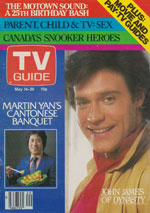 Canadian TV Guide Cover Vol 07 No 20 Issue 333 May 14 1983