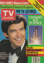 Canadian TV Guide Cover Vol 07 No 23 Issue 336 June 4 1983