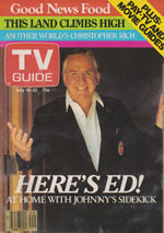 Canadian TV Guide Cover Vol 07 No 29 Issue 342 July 16 1983