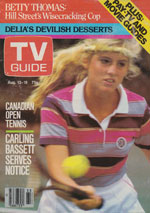Canadian TV Guide Cover Vol 07 No 33 Issue 346 August 13 1983