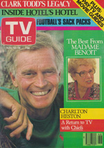 Canadian TV Guide Cover Vol 07 No 46 Issue 359 November 12 1983