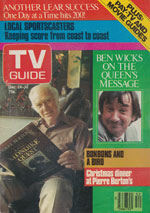 Canadian TV Guide Cover Vol 07 No 52 Issue 365 December 24 1983