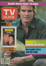 Canadian TV Guide Cover Vol 08 No 34 Issue 400 August 25 1984