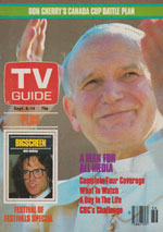 Canadian TV Guide Cover Vol 08 No 36 Issue 402 September 8 1984