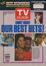 Canadian TV Guide Cover Vol 09 No 38 Issue 456 September 21 1985