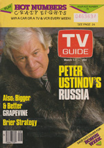 Canadian TV Guide Cover Vol 10 No 09 Issue 478 March 1 1986
