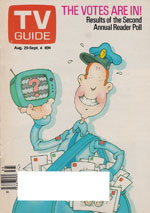 Canadian TV Guide Cover Vol 11 No 35 Issue 556 August 29 1987