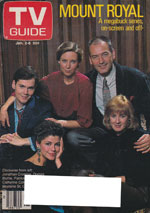 Canadian TV Guide Cover Vol 12 No 01 Issue 574 January 2 1988