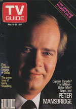Canadian TV Guide Cover Vol 12 No 20 Issue 593 May 14 1988