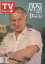 Canadian TV Guide Cover Vol 13 No 01 Issue 627 January 7 1989