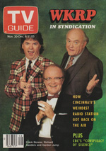 Canadian TV Guide Cover Vol 15 No 48 Issue 778 November 30 1991