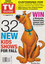 Canadian TV Guide Cover Vol 26 No 34 Issue 1339 August 24 2002
