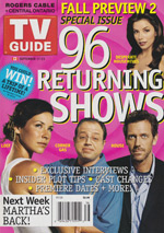 Canadian TV Guide Cover Vol 29 No 38 Issue 1499 September 17 2005