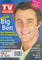 Canadian TV Guide Cover Vol 30 No 23 Issue 1535 June 3 2006