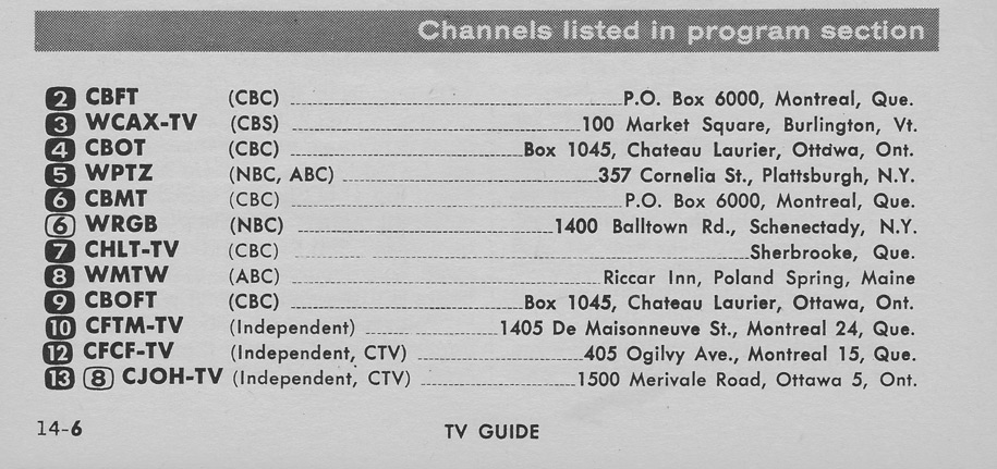 TV Guide March 2 1963 St Lawrence Edition Channels Listed