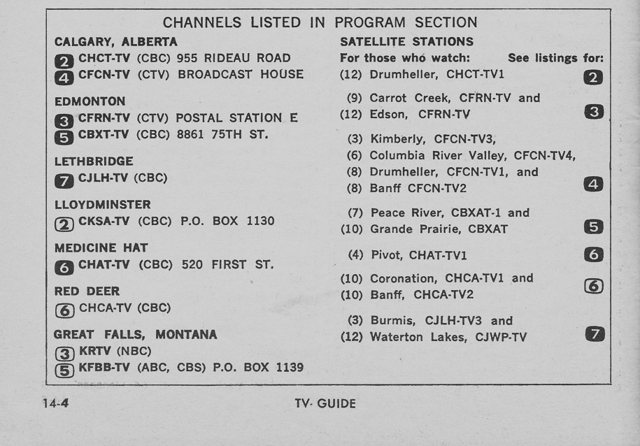 TV Guide October 24 1964 Montana-Alberta Edition Channels Listed