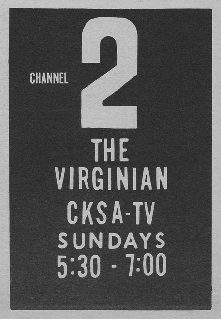 TV Guide October 24 1964 Montana-Alberta Edition The Virginian on CKSA Lloydminster