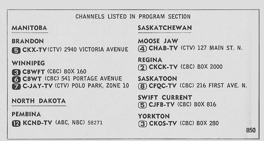 TV Guide December 4 1965 Manitoba-Saskatchewan Edition Channels Listed