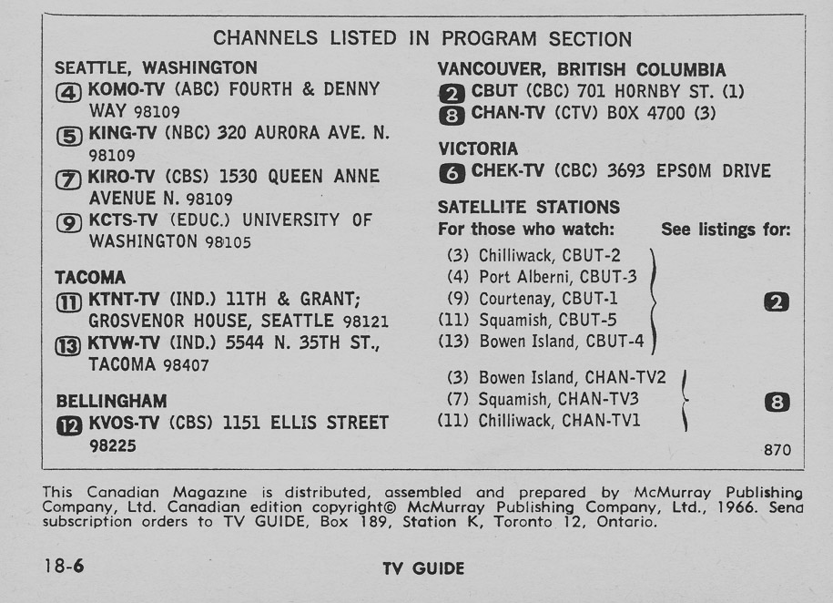TV Guide June 24 1967 Western British Columbia Edition Channels Listed