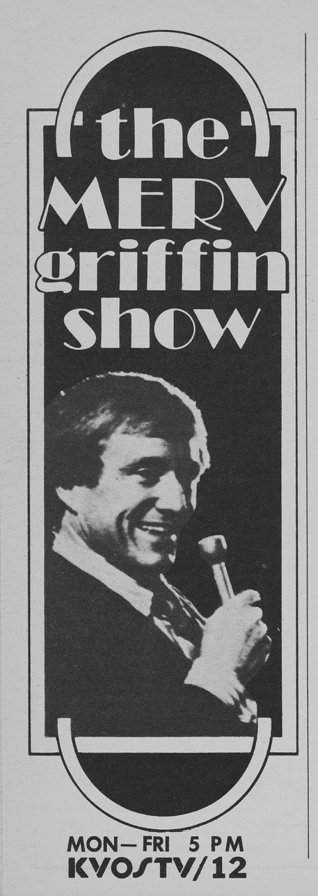 TV Guide January 1 1977 Western British Columbia Edition KVOS The Merv Griffin Show