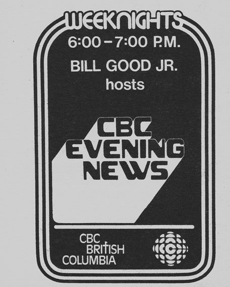 TV Guide September 9 1978 Western British Columbia Edition CBC Evening News