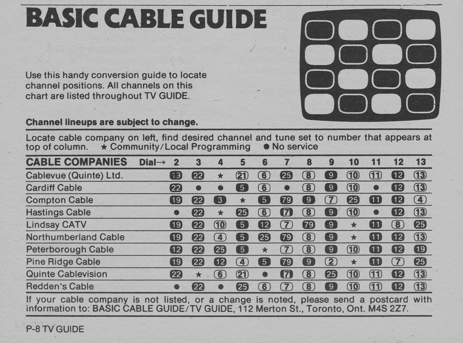 TV Guide September 19 1981 Oshawa-Peterborough Edition Basic Cable Guide