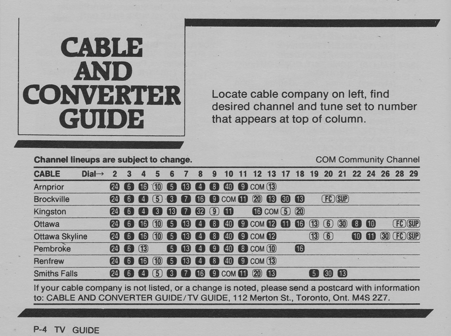 TV Guide July 30 1983 Ottawa-Eastern Ontario Edition Cable & Converter Guide