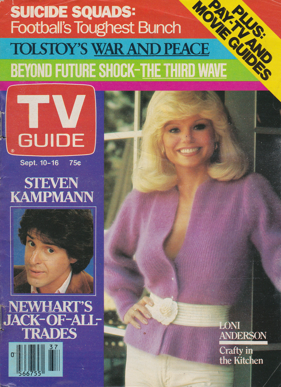 TV Guide September 10 1983 Western Ontario Edition Front Cover