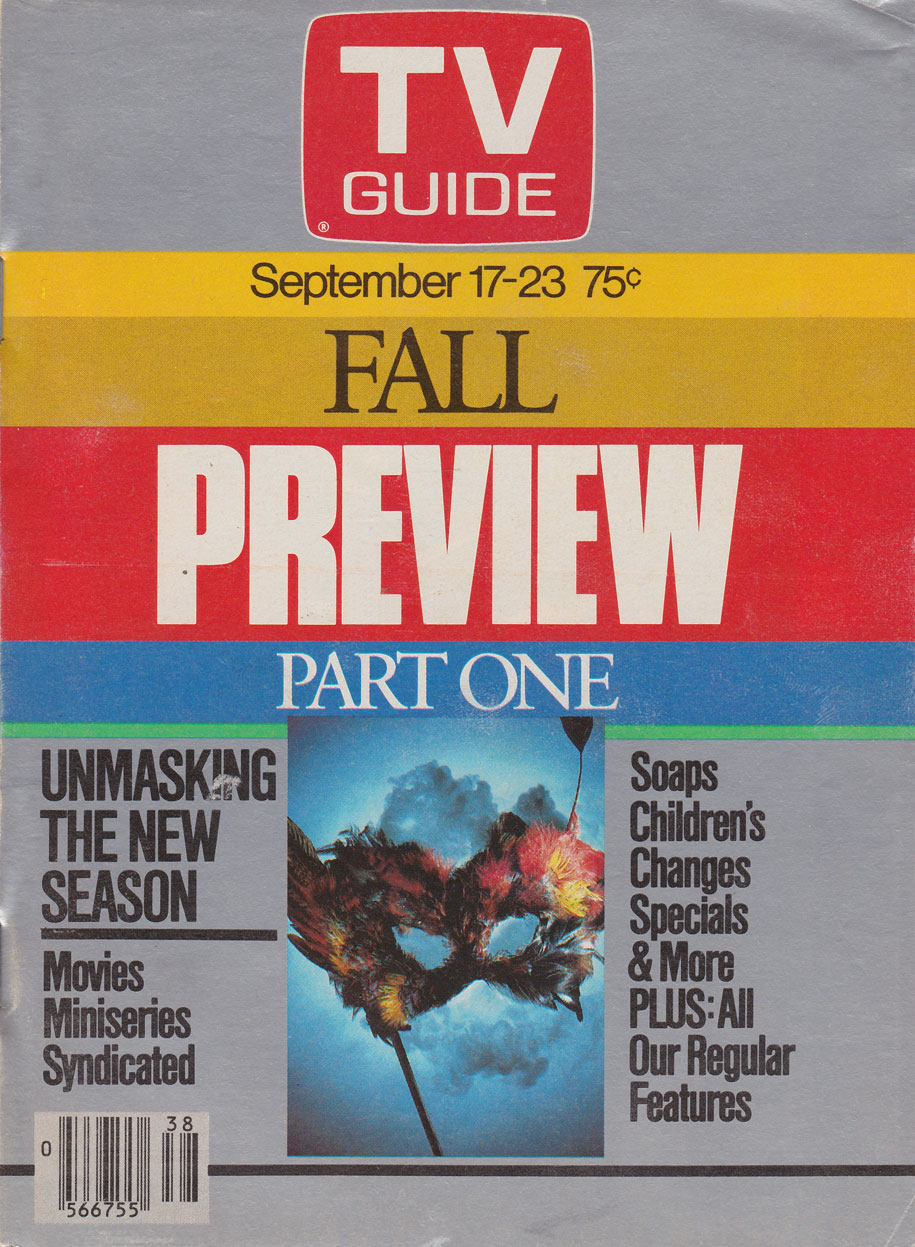 TV Guide September 17 1983 Oshawa-Peterborough Edition Front Cover