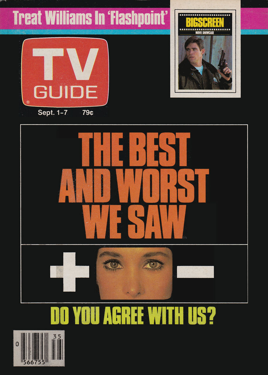 TV Guide September 1 1984 Western British Columbia Edition Front Cover