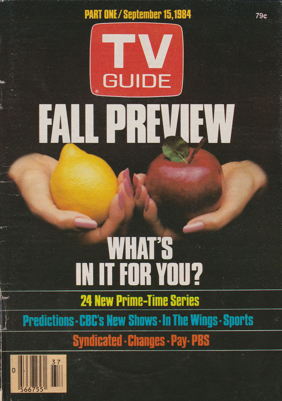 TV Guide September 15 1984 Western Ontario Edition Front Cover