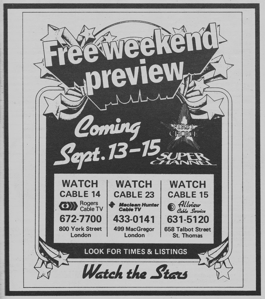 TV Guide September 7 1985 Western Ontario Edition Free Weekend Preview