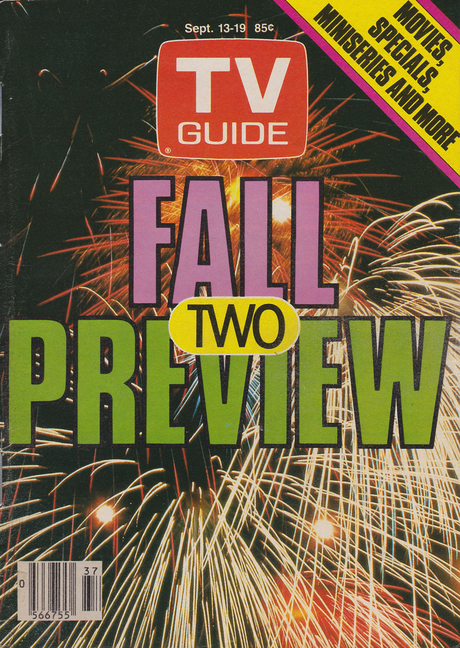 TV Guide September 13 1986 Western Ontario Edition Front Cover