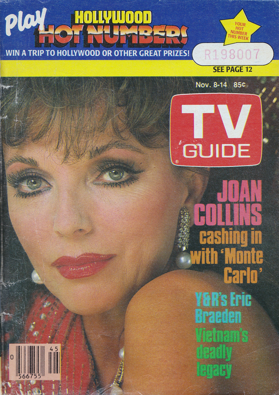 TV Guide November 8 1986 Montreal Edition Front Cover