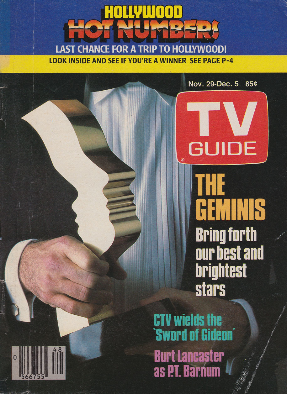 TV Guide November 29 1986 Western Ontario Edition Front Cover