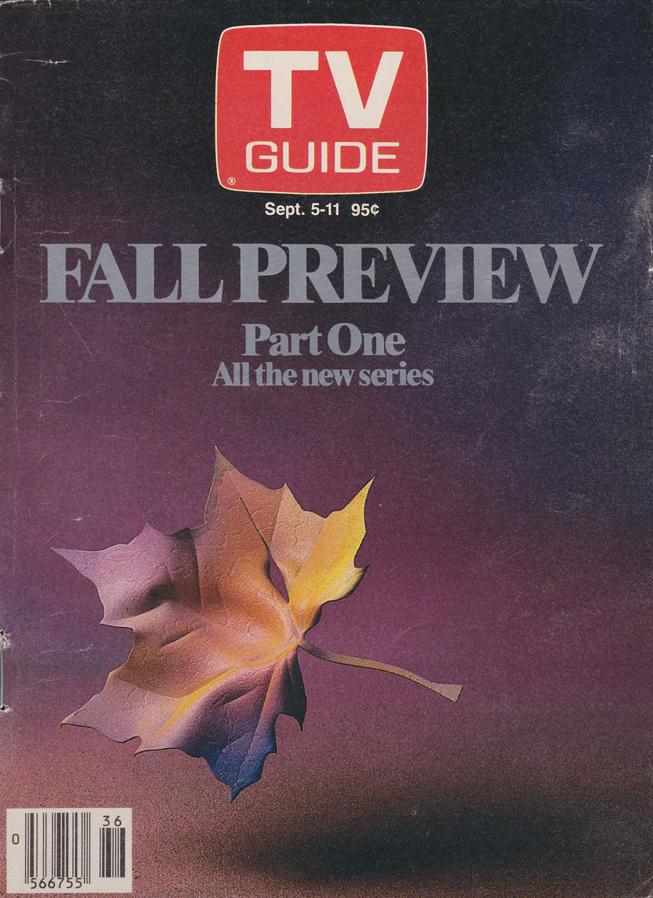 TV Guide September 5 1987 Oshawa-Peterborough Edition Front Cover