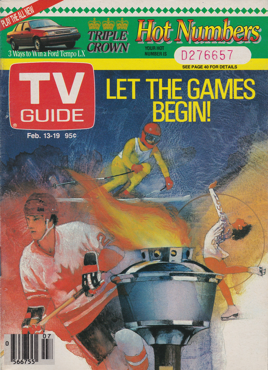 TV Guide February 13 1988 Western Ontario Edition Front Cover