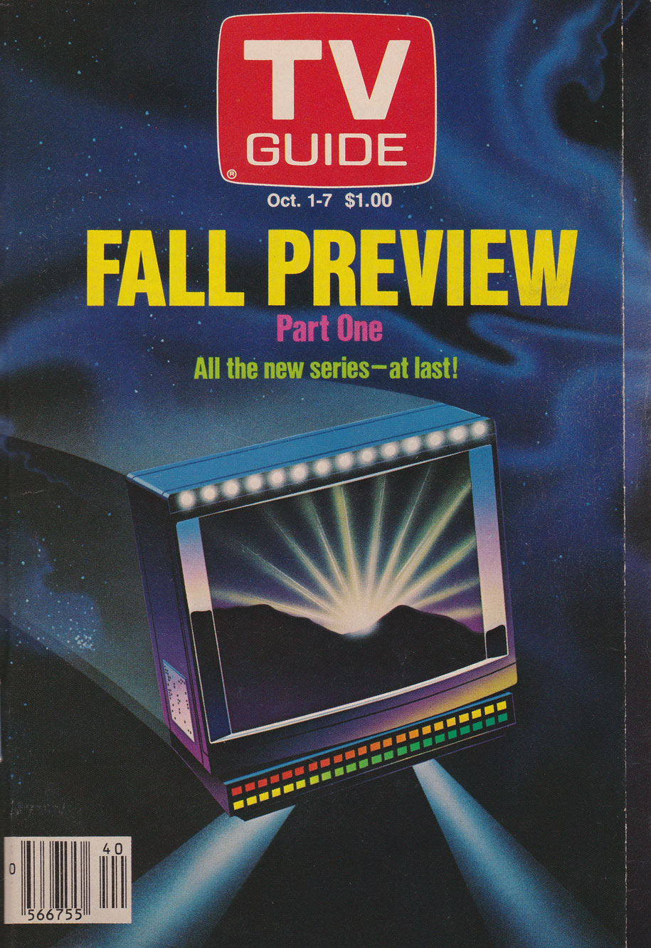 TV Guide October 1 1988 Western Ontario Edition Front Cover