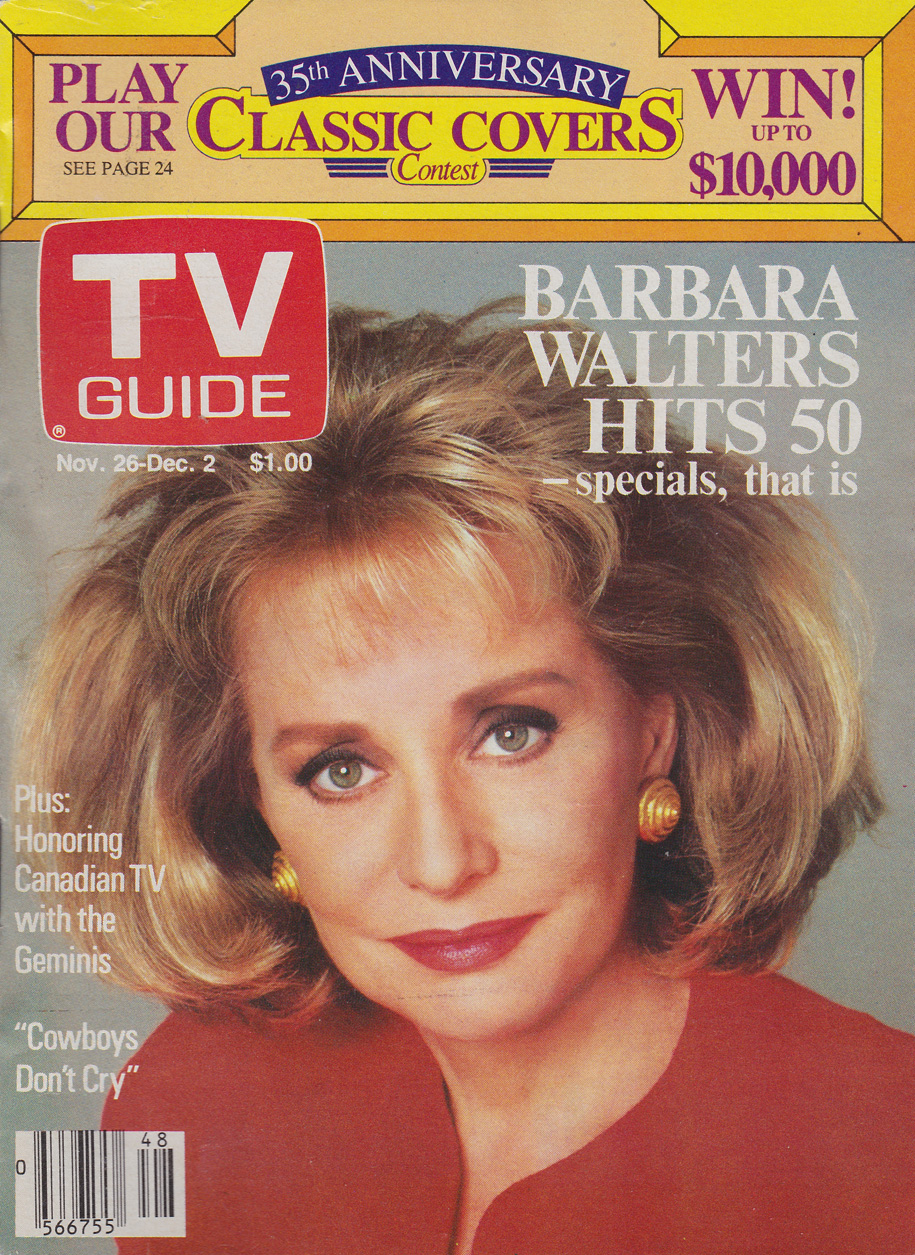 TV Guide November 26 1988 Ottawa-Eastern Ontario Edition Front Cover