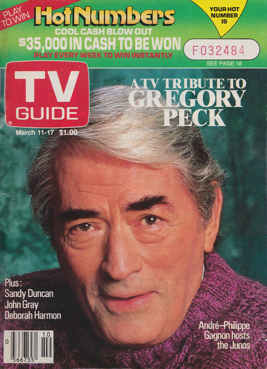 TV Guide March 11 1989 Western British Columbia Edition Front Cover