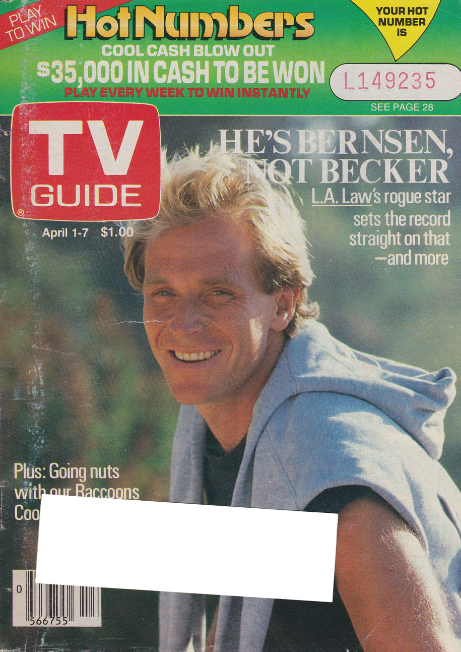 TV Guide April 1 1989 Alberta Edition Front Cover