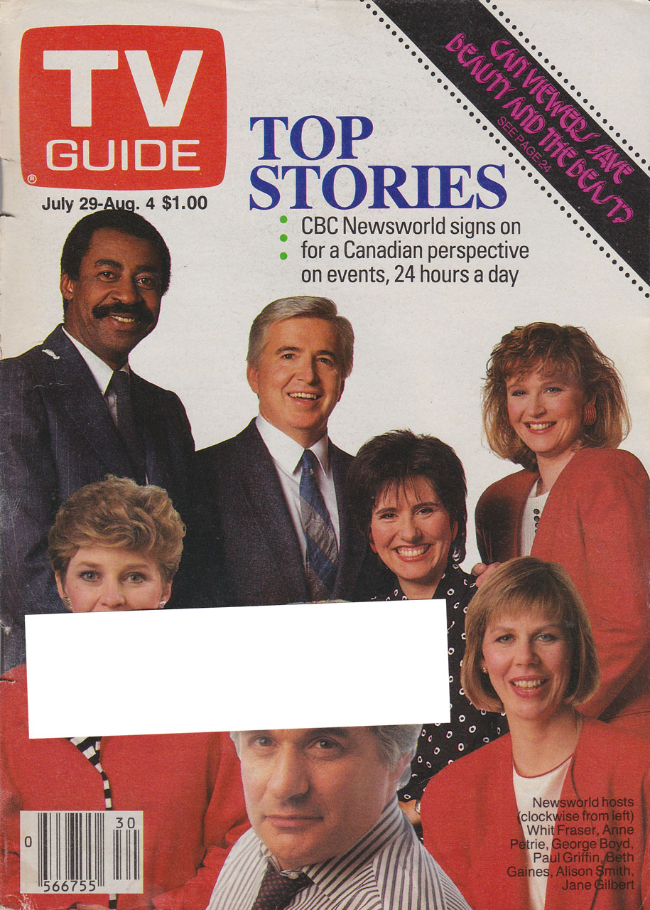 TV Guide July 29 1989 Alberta Edition Front Cover