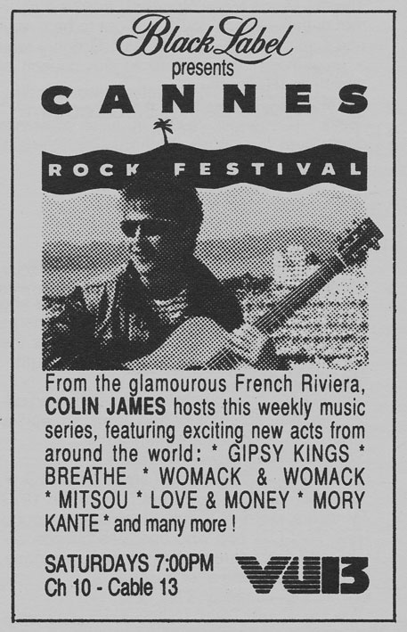 TV Guide August 26 1989 Western British Columbia Edition CKVU VU13 Rock Festival