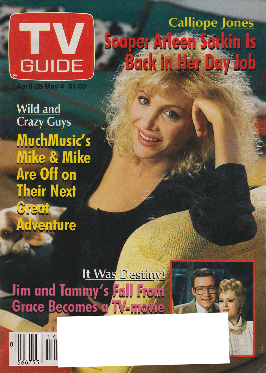 TV Guide April 28 1990 Hamilton & Region Edition Front Cover