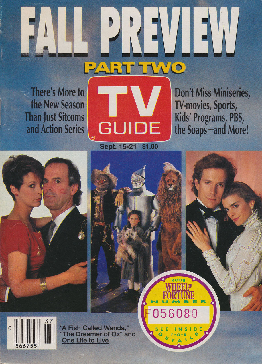 TV Guide September 15 1990 Manitoba Edition Front Cover