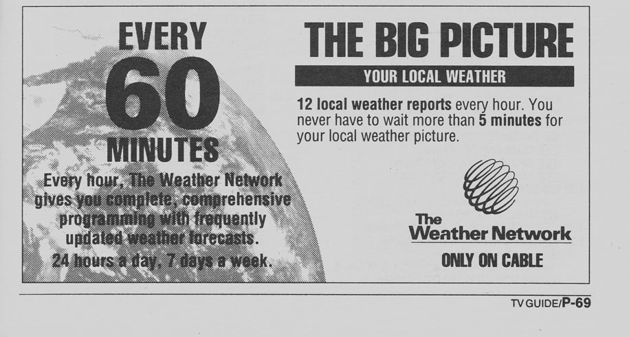TV Guide May 18 1991 Manitoba Edition The Weather Network Promo