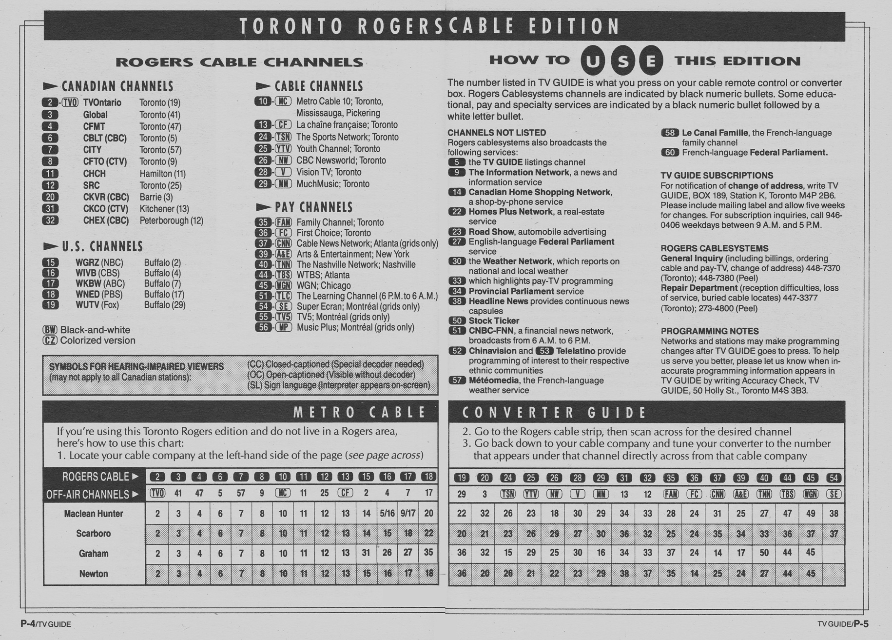 Vintage channel guide from calgary shaw cable edition of tv guide.