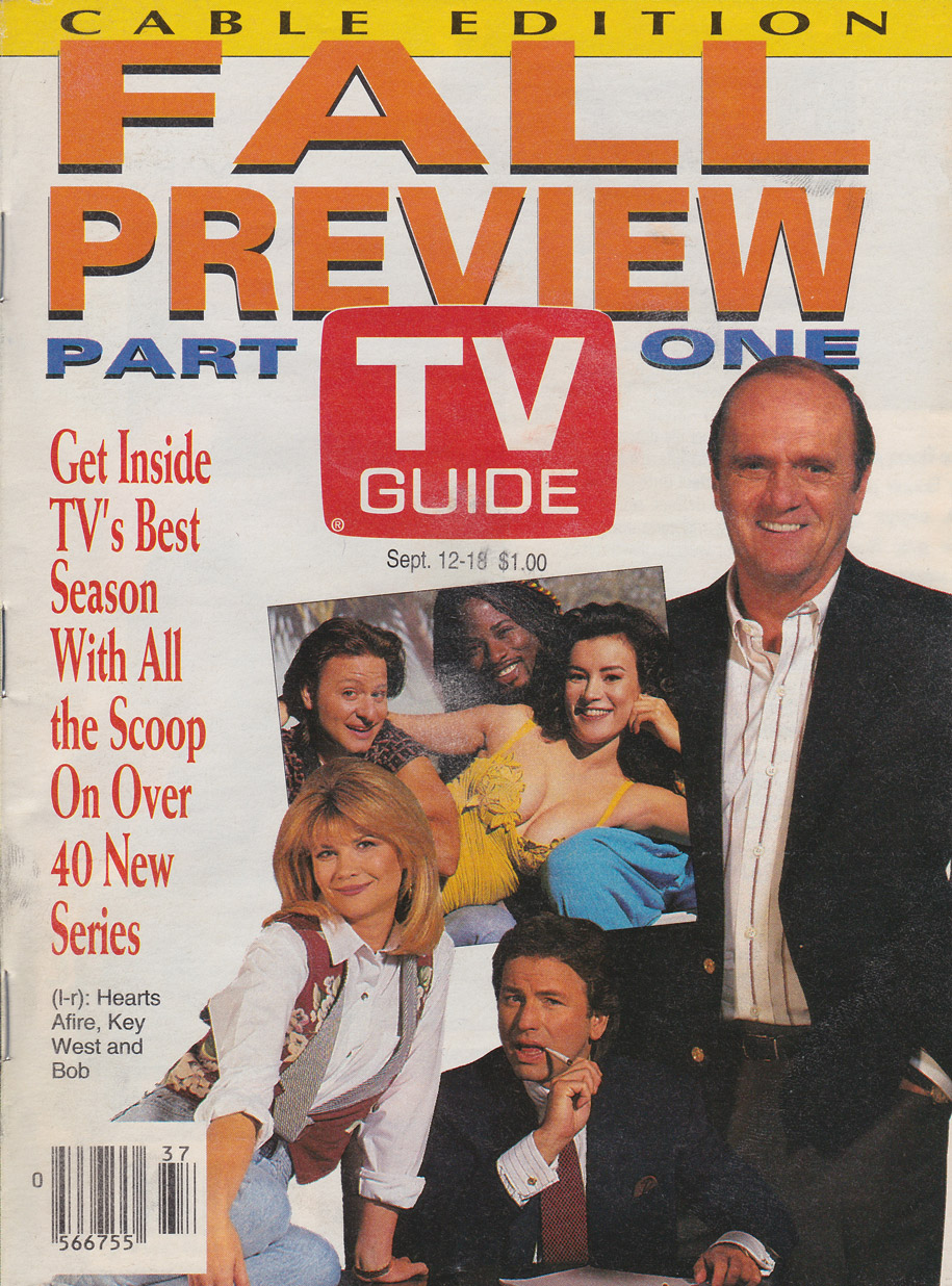 TV Guide September 12 1992 Calgary Cable Edition Front Cover
