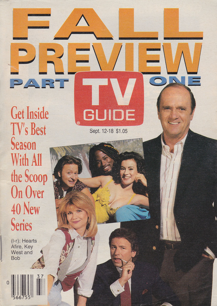 TV Guide September 12 1992 Western Ontario Edition Front Cover